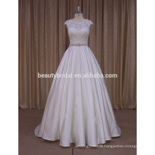 MM027 China apparel manufacturer alibaba wedding gowns boutique dresses with peach belt